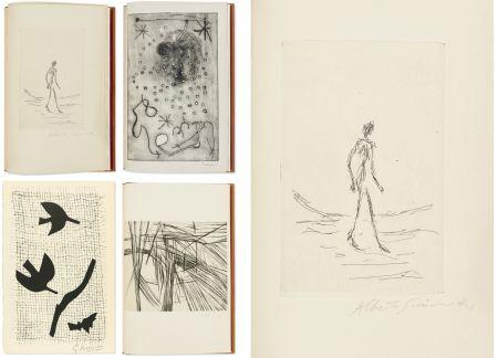 Libro Illustrato Giacometti - Bibliographie des œuvres de René Char (PAB 1964) Gravures signées de Giacometti, Miro, Braque, Da Silva, etc.