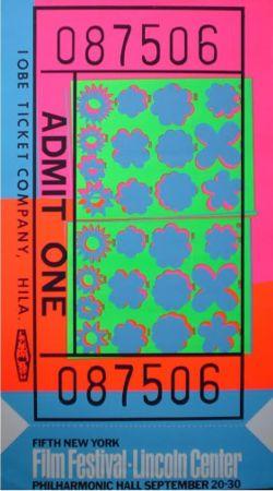 Serigrafia Warhol - Biglietto Lincoln Center (FS II.19)