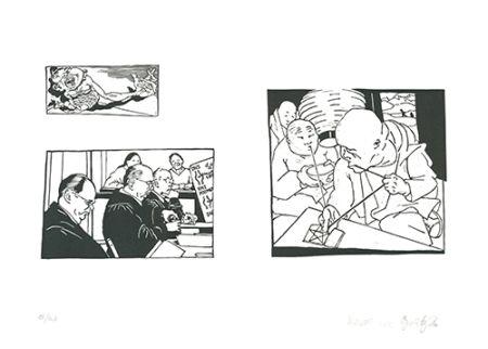 Linoincisione Grützke - Bilder aus Bongs Stall