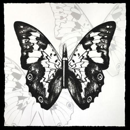 Serigrafia Robierb - Black Butterfly on White
