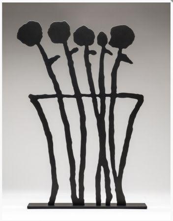 Non Tecnico Baechler - Black Flowers Sculpture