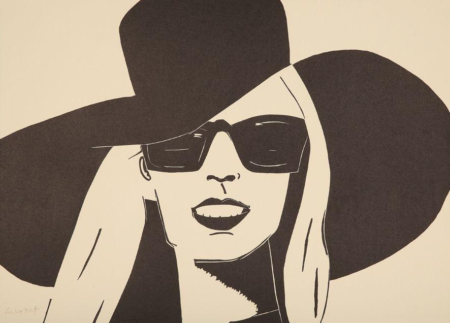 Incisione Su Legno Katz - Black Hat (Nicole)