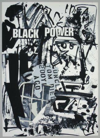 Litografia Vedova - Black power