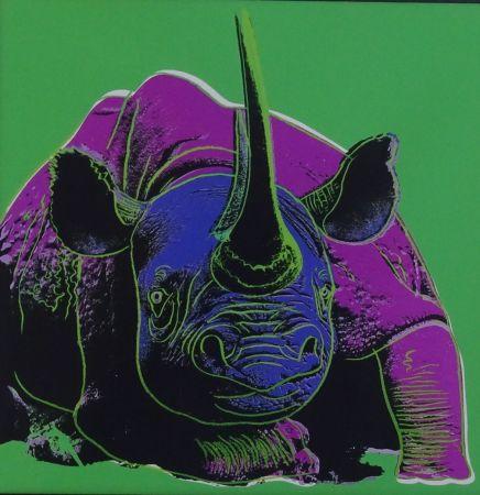 Serigrafia Warhol - Black rhinoceros