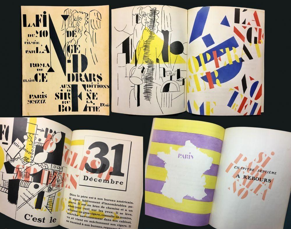 Libro Illustrato Leger - Blaise Cendrars : La Fin Du Monde Filmée Par L'Ange N.-D. Roman. Pochoirs par Fernand Léger (1919)..