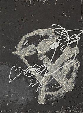 Carborundum Tàpies - Blanc sur noir
