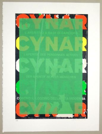 Serigrafia Rotella - Blank Cynar (verde)