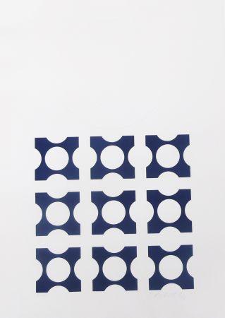 Litografia Vasarely - Blue From Album I Suite
