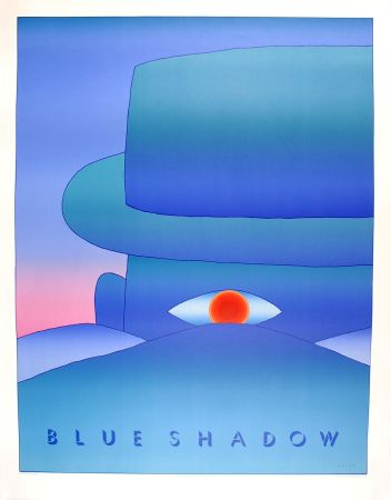 Manifesti Folon - Blue Shadow (L'Aube, 1972)