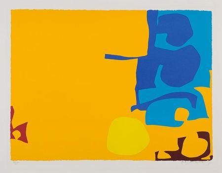 Serigrafia Heron - Blues Dovetailed in Yellow