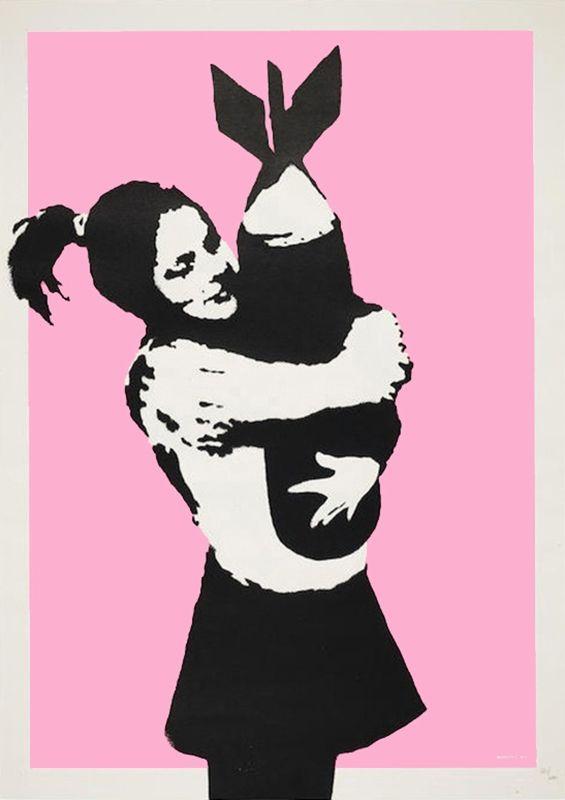 Serigrafia Banksy - BOMB LOVE (BOMB HUGGER)