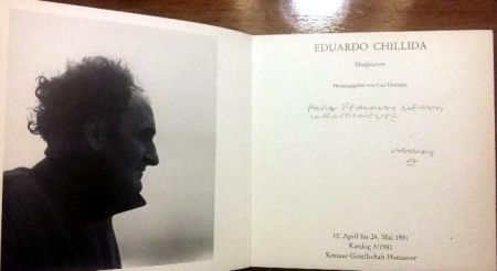 Libro Illustrato Chillida - Book Chillida Skulpturen - Signed by the artist