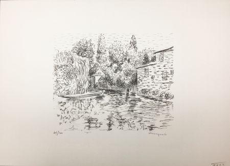 Litografia Marquet - Bord de rivière