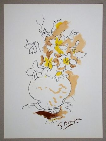 Litografia Braque (After) - Bouquet