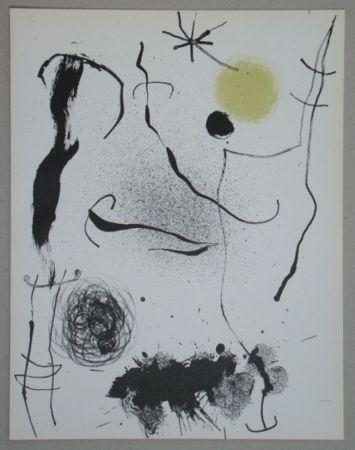 Litografia Miró - Bouquet de rêves pour Leila