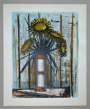 Litografia Buffet - Bouquet de soleils, 1959