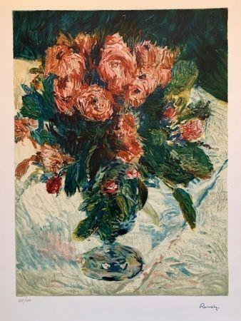 Litografia Renoir - Bouquet of roses