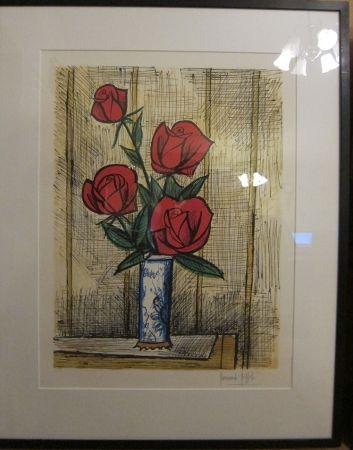 Litografia Buffet - Bouquet Roses