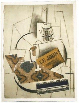 Litografia Picasso - Bouteille de Vieux Marc