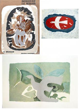 Libro Illustrato Braque - BRAQUE, derniers messages. Derrière le Miroir n° 166 . Juin 1967.