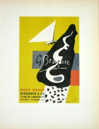 Litografia Braque - Braque Graveur  Galerie Berggruen Paris 1953