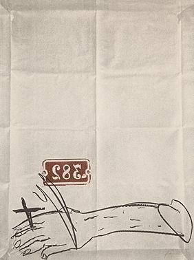 Litografia Tapies - Bras Et Chiffres