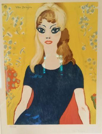 Litografia Van Dongen - Brigitte Bardot