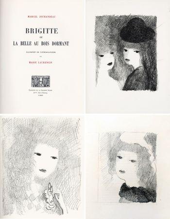 Libro Illustrato Laurencin - BRIGITTE OU LA BELLE AU BOIS DORMANT (M. Jouhandeau. 1925)
