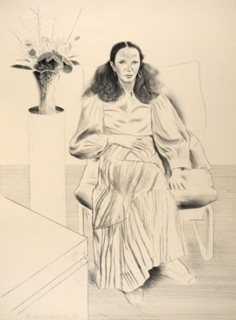 Litografia Hockney - Brook Hopper