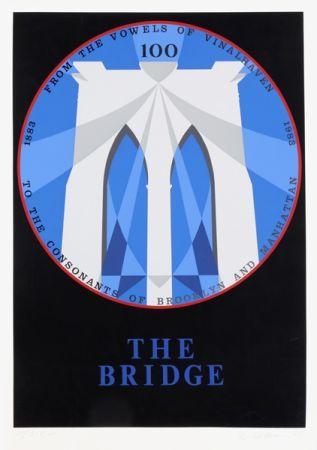 Serigrafia Indiana - Brooklyn Bridge from the New York, New York Portfolio