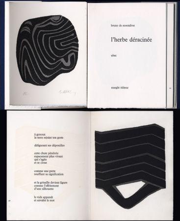 Libro Illustrato Ubac - Bruno de MONTALIVET. L'HERBE DÉRACINÉE. Gravures de Raoul Ubac