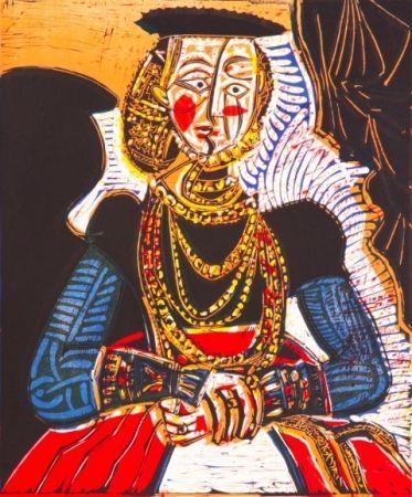 Litografia Picasso - Buste de Femme