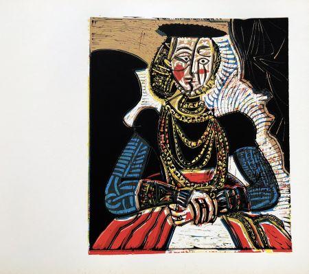 Linoincisione Picasso (After) - Buste de femme after granache jeune
