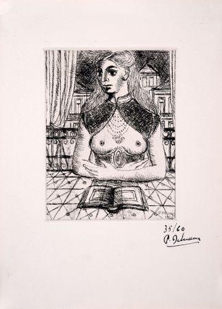 Acquaforte Delvaux - Buste de Femme III
