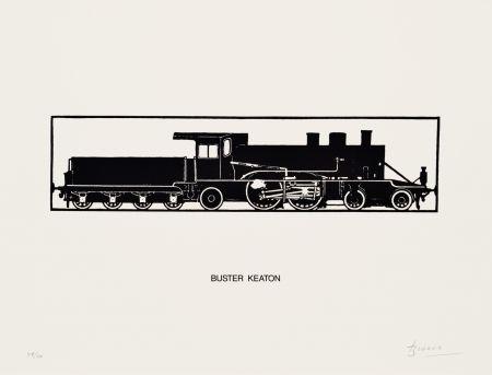 Litografia Brossa - Buster Keaton