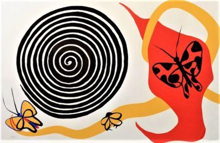 Litografia Calder - Butterflies And Spiral