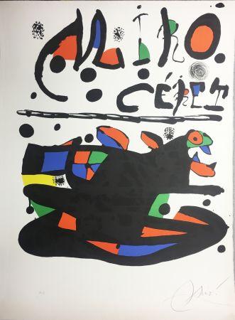 Litografia Miró - CÉRET. Lithographie originale signée ( 1977).
