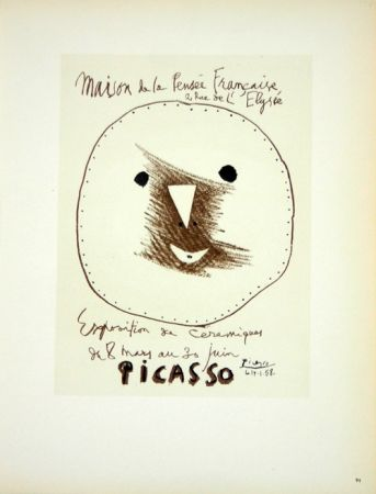 Litografia Picasso (After) - Céramiques