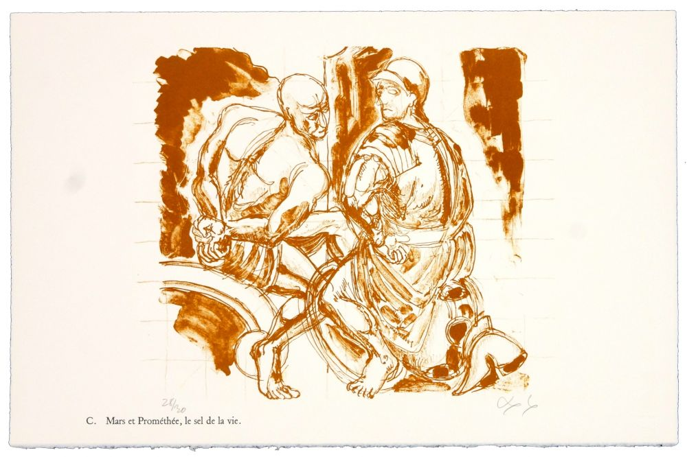 Litografia Nørgaard - C. Mars et Prométhée.