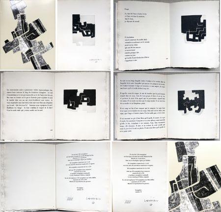 Libro Illustrato Chillida -  C. Racine. LE SUJET EST LA CLAIRIÈRE DE SON CORPS. Poèmes. 4 eaux-fortes originales (1974)
