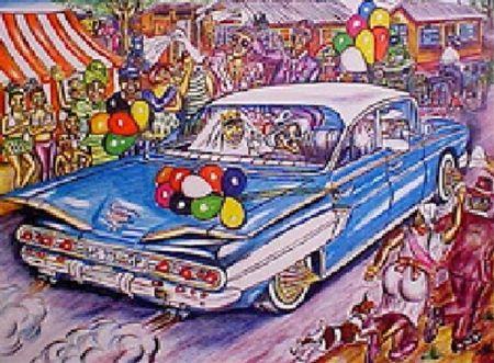 Litografia Motswai - Cadillac