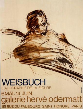 Litografia Weisbuch - Calligraphie de la Figure