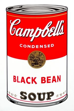 Serigrafia Warhol (After) - Campbell's Soup - Black Bean