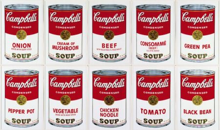 Serigrafia Warhol (After) - Campbell´s Soup Can Set of 10