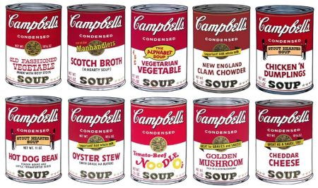 Serigrafia Warhol (After) - Campbell´s Soup Can Set of 10 Serie 2