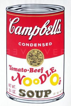 Serigrafia Warhol - Campbell'S Soup Ii: Tomato Beef Noodle O'S (Fs Ii.61)