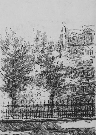 Acquaforte Castellani - Cancellata del British Museum