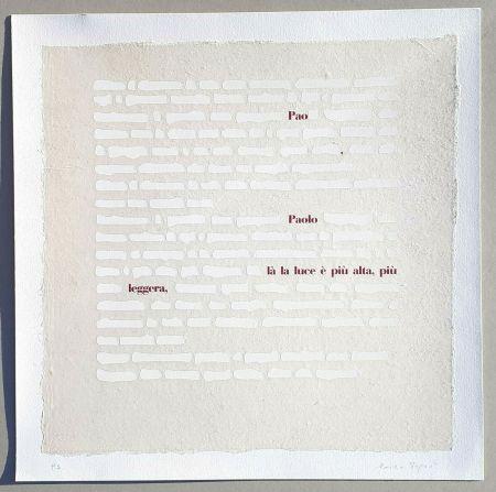 Serigrafia Isgro - Cancellature (la luce è più alta)