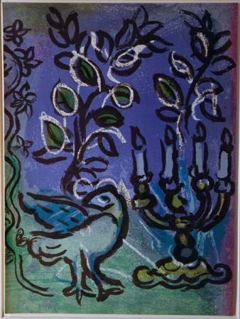 Litografia Chagall - Candlestick