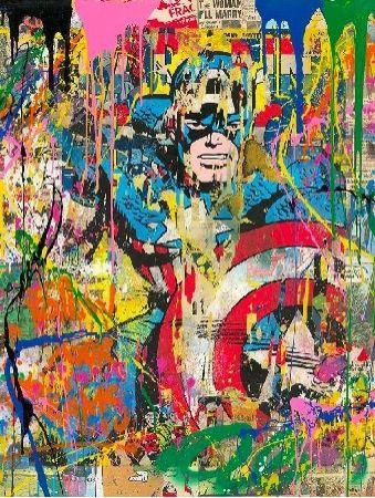 Serigrafia Mr Brainwash - Captain America, 2020
